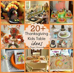 20+ Kids Thanksgiving table ideas