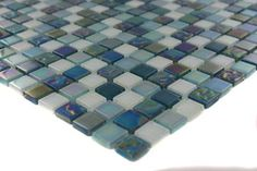 Whimsical Iridescent Teal Glass Tile - contemporary - bathroom tile - by Glass Tile Store