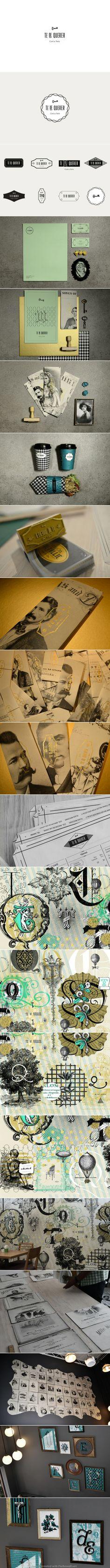 Corporate design logo brochure stamp business letterhead letter vintage packaging