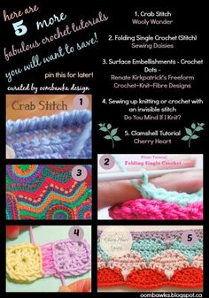 Five More Crochet Tutorials to Add to your Collection