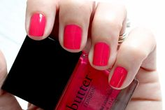 Butter London - My Favs For Summer http://bit.ly/1nNOPTg bright pink cream nail polish