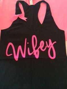 Wifey Tank - Ruffles with Love - Racerback Tank - Womens Fitness - Wor