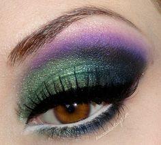 Green and purple eye makeup #smokey #dark #dramatic #eye #makeup #eyes