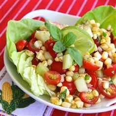 """Easy Cherry Tomato Corn Salad 