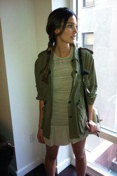 Lily Aldridge....cute jacket