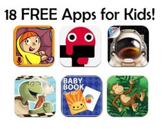 FREE App Friday | 18 FREE iPhone Apps for Kids