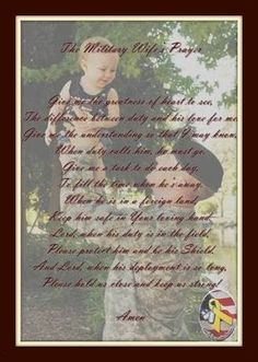 The Military Wife's Prayer