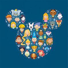 disney movies, galleries, silhouett, art illustrations, mickey mouse, disney art, disney babies, ears, disney characters