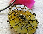 wire spiderweb jewelry.