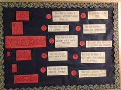 September bulletin board. The 10 Commandments of Having a Roommate.