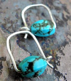 Simple Turquoise Turquoise and Silver by ThePurpleLilyDesigns, $12.50