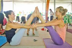 Practice yoga with friends :)