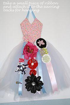 DIY Hanging Dress Hair Bow Holder