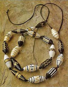 recycling paper: african beads made of paper …! - crafts ideas - crafts for kids