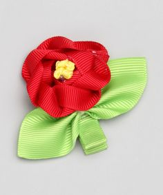 Another great find on #zulily! Red Woven Flower Clip by Bubbly Bows #zulilyfinds