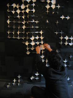 #light #paper #papercut #Origami #design #installation