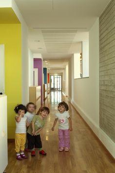 Kindergarten Barbapapa - Italy; like each hall is different color