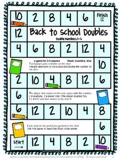 FREEBIES -Back to School Math Games Freebie by Games 4 Learning - Back to school math fun! 4 printable games that review a variety of basic math skills.
