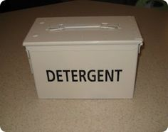 Ammo Box re-faced as Laundry Detergent Canister
