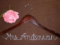Hanger Deluxe one Line Personalized Custom Bridal by einspanner, $34.99