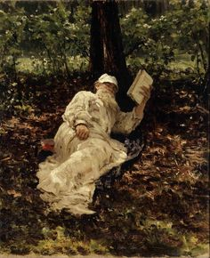 Ilya Yefimovich Repin, Tolstoy Reading in the Forest (1891)