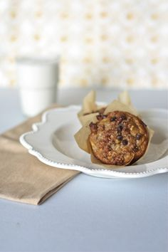 Banana Muffins with Chocolate Chip Streusel Topping - Against All Grain