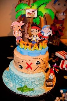 JAKE AND THE NEVERLAND PIRATES  That Oma Maggie is going to make..  Except, the characters will be made of fondant :)