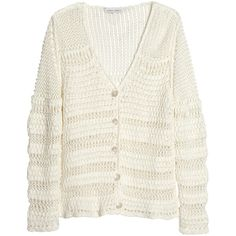 Alberta Ferretti Open-knit linen and cotton-blend cardigan ($360) ❤ liked on Polyvore