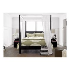 Pavillion Black Canopy Bed I Crate and Barrel