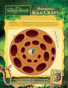 Hypnotic Kaa Craft! #BareNecessities