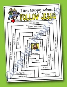 FOLLOW JESUS: Primary CTR-A, Lesson 15, Primary 2 manual, Come, Follow Me, Primary Lesson Helps, family home evening, Sunday Savers book or ...