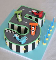 car cakes, cake idea, 5th birthday, number cakes, cake race track, 2nd birthday, number one, kid, birthday cakes