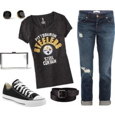 NFL Game Day Style. Go Steelers! :)