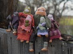 Family: traditional Russian folk dolls