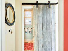 House of Turquoise: Echelon Custom Homes   sliding barn door