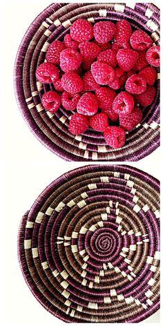 Noshing on Raspberries From My Handmade Hope Inspired Rwanda Fruit Bowl
