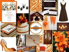 Orange and Brown Wedding Inspiration