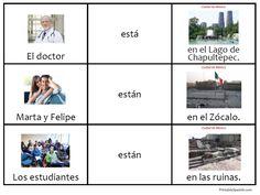 Printable Spanish FREEBIE of the Day: Estar en la Ciudad de Mexico card set to practice ESTAR and get a little culture awareness!
