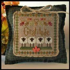 Little House Needleworks little houses, crossstitch, sheep virtu, cross stitch patterns, hous needlework, count cross, cross stitches, gratitude, embroideri
