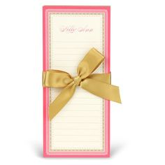 Pink and Gold Notepa