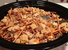 Chex Mix in the Crockpot... Happy Hour Appetizers 3 | Hampton Roads Happy Hour