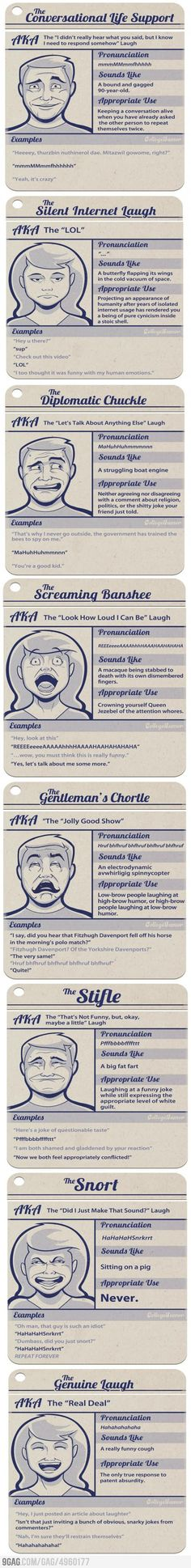 Eight Types of laughter