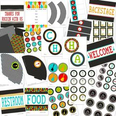 ROCK ON Guitar Printable Party Package