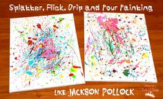 Kids Get Arty - Splatter Painting Like Pollock from Mom to 2 Posh Lil Divas