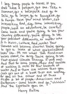 I beg young people to travel...#travel #quotes