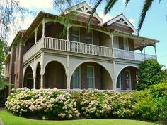 'Derry', a former home of author, May Gibbs, and an excellent example of Australian Federation Filigree architecture (1890 - 1914). The house is in Neutral Bay in Sydney's north, New South Wales, Australia.
