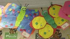 Going Buggy! These are our butterflies.  They turned out so cute!