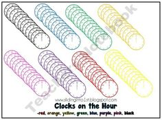 clocks on the hour, 8 colors!