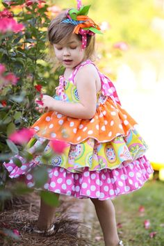 Summer tea ruffle dress - I may have to have my mom sew this when I have a little girl someday