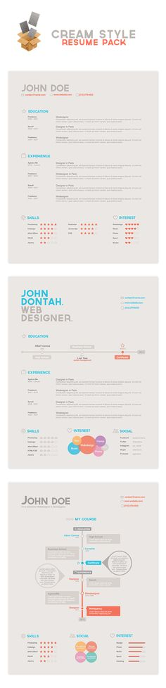 The most beautifully designed cv. Wow!